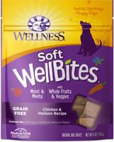 Wellness WellBites Chicken & Venison Recipe Soft & Chewy Dog Treats, 6-oz