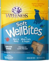 Wellness WellBites Chicken & Lamb Recipe Soft & Chewy Dog Treats, 6-oz