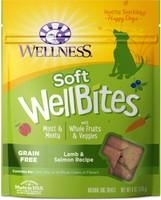 Wellness WellBites Grain-Free Lamb & Salmon Recipe Soft & Chewy Dog Treats 6-oz