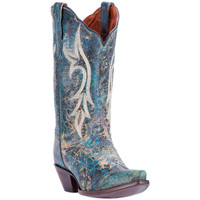 Dan Post Women Knockout Cowboy Boots - Turquoise