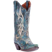 Dan Post Women Knockout Cowboy Boots - Turquoise