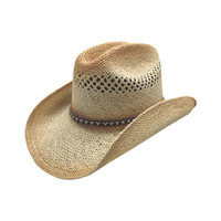 Men's Cattleman Tan Straw Hat
