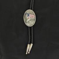 Eagle & American Flag Bolo