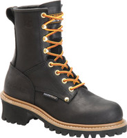 Carolina Women's Elm Logger 8in Steel Toe Work Boots - Black