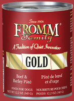 Fromm Gold Beef & Barley Pâté 12oz Canned Dog Food