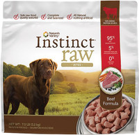 Nature's Variety Instinct Raw Frozen Bites Beef Formula for Dog 7Lb