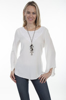 Scully Women's  Crochet Blouse - Ivory
