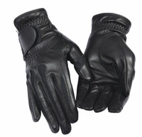 TuffRider Ladies Leather Summer Gloves Black