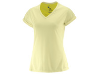 Salomon Women's Elevated Flow TEE  Wax Yellow/Sulphur Sp