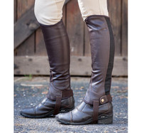 Dublin Flexi Leather Half Chaps  - Brown