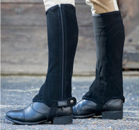 Dublin Kid's Easy-Care Half Chaps  - Black