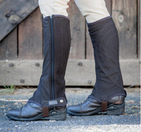 Dublin Kid's Easy-Care Half Chaps  - Brown
