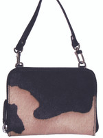Scully Calf Hair Bag Black