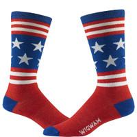 Wigwam Men's Anthem Socks - Read-White-Blue