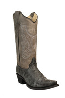 Corral Women's Circle G Cowboy Boots - Black/Grey