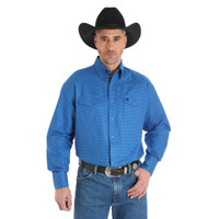 Wrangler Men's George Strait Troubadour Long Sleeve Shirt - Blue