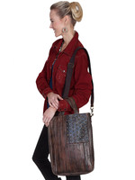 Scully Leather flag handbag Brown