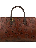Scully Fall Leaf Hand Bagg Brown