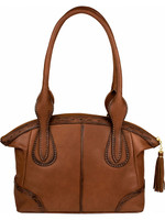 Scully Pebbled calf handbag Brown