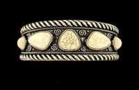 Women's Jewelry Bracelet Cuff Ivory Stone