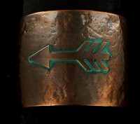 Women's Jewelry Bracelet Cuff Arrow Hammered Copper Turquoise