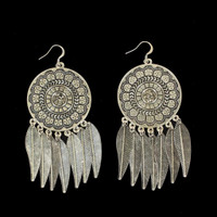 Blazin Roxx Womens Jewelry Earrings Dreamcatcher Silver