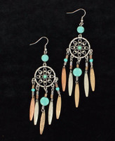 Women's Jewelry Dream Catcher Earrings Turquoise