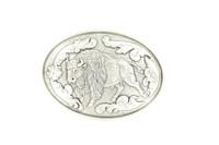 Buffalo Buckle Silver