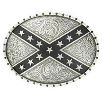 Nocona Rebel Flag Buckle