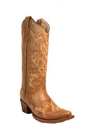 Corral Women's Honey Embroidered Brown