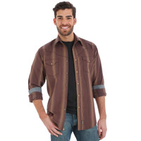 Wrangler Men's Wrangler Retro Long Sleeve Shirt - Brown