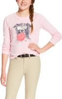 Ariat Bubblegum Tee With Dog Pink