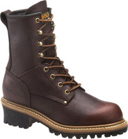 Carolina Women's Elm 8'' Logger Work Boots - Brown