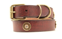 "Shotshell 1"" Dog Collar - Brown"