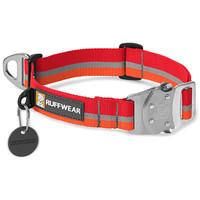 Ruffwear Top Rope Collar Kokanee Red With Orange