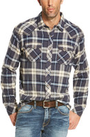 Ariat Men's Tahoma Navy/White Flannel