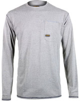 Ariat Men's Rebar Crew Long Sleeve Shirt - Grey