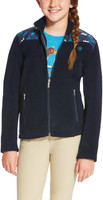 Ariat Kid's Basis Full Zip Fleece - Navy