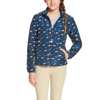 Ariat Kid's Laurel Jacket Navy Horse Print
