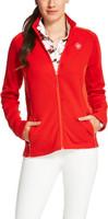 Ariat Women's Luxe Full Zip Orange Fleece