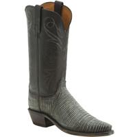 Lucchese Women's Lizard Madras Goat Cowboy Boots - Pearl Bone