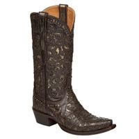 Lucchese Women's Sierra Cowboy Boots - Espresso