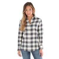 Wrangler Women's Long Sleeve Plaid Flannel