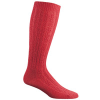 Wigwam Women's Cable Knee High Socks - Red