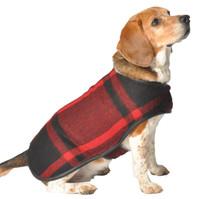 Red Plaid Blanket Dog Coat