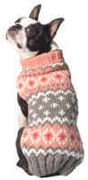 Peach Fairisle Dog Sweater
