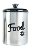 Buddy's Line Brushed Black Stainless Food Cannister