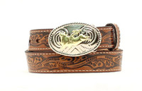 Nocona Kid's Bullrider Tooled Belt -  Brown