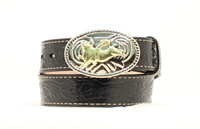 Nocona Kid's  Bullrider Tooled  -  Black