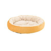 Sleep Zone Checkerboard Napper 20″ Pet Bed - Gold